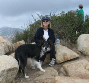 Rip w/owner at top of Iron Mountain